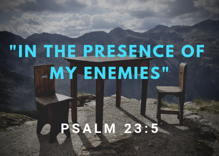 """""""In The Presence Of My Enemies"""" – Psalm 23:5"""