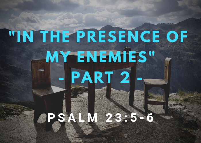 """In The Presence Of My Enemies"" Part 2 – Psalm 23:5-6"